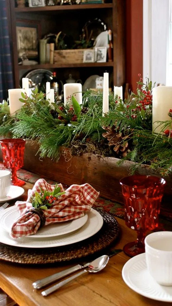 Farmhouse Christmas Tablescape
