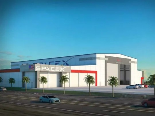 Concept image of a hangar SpaceX plans to build at