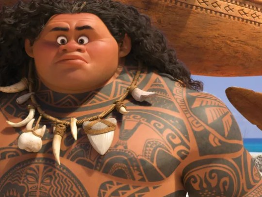 Maui (voice of Dwayne Johnson) may be a demigod —but