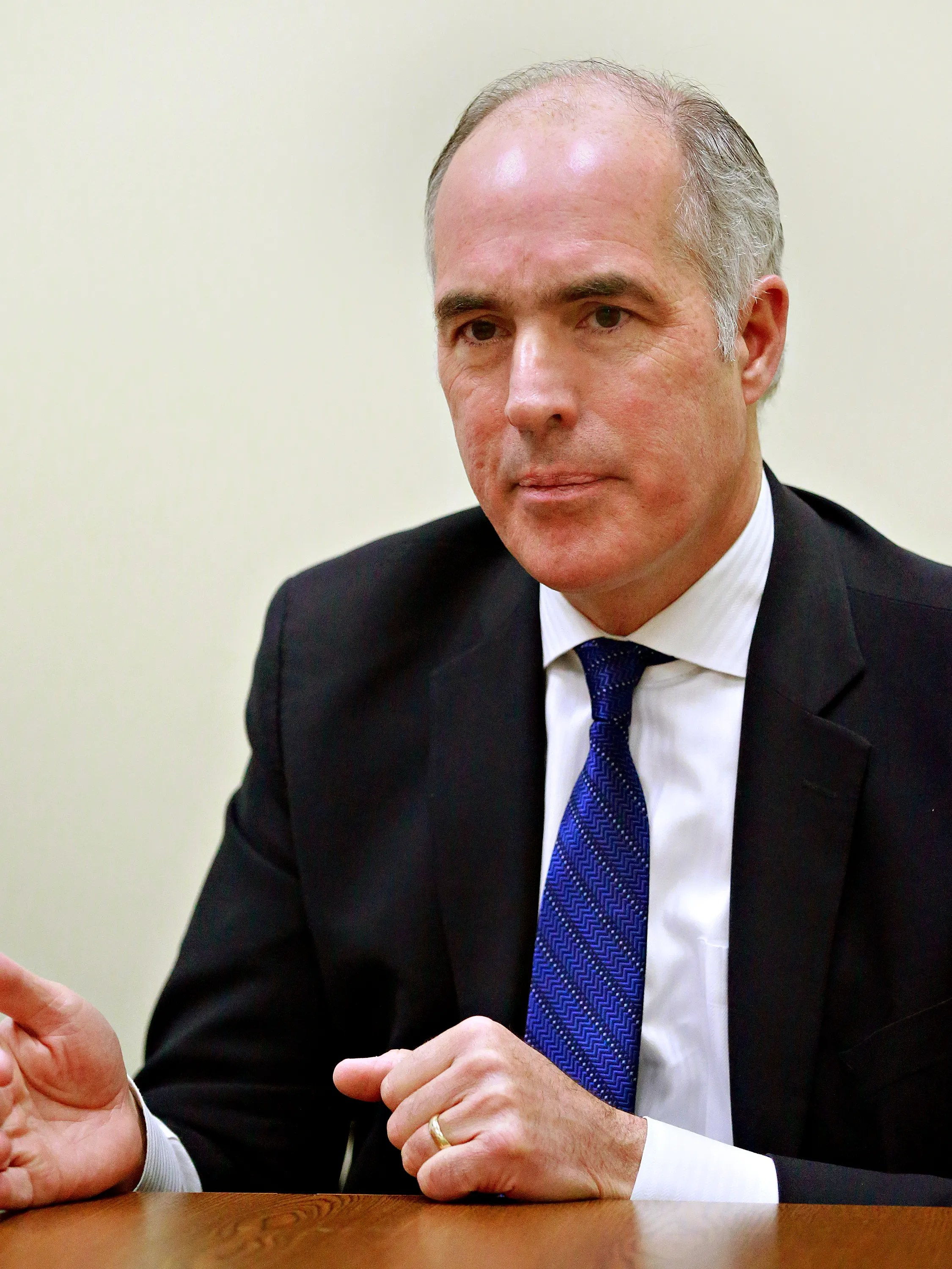 U.S. Senator Bob Casey (D-PA) speaks to the York Dispatch