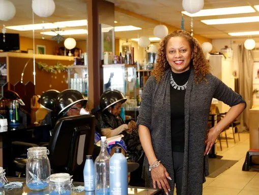 Regine Coombs, owner of Regine's International Beauty
