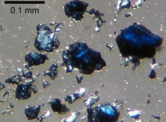 Hydrous ringwoodite synthesized from olivine in Steve Jacobson's laboratory.