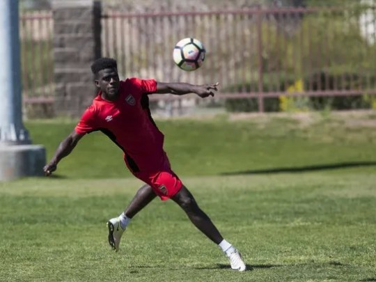 Jason Johnson, a forward with the Phoenix Rising FC