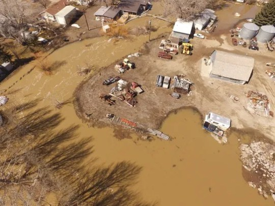 Spring snowpack melt is causing flooding in Liberty