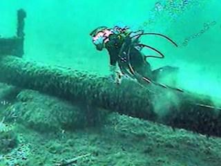 Enbridge Line 5 pipeline under the Straits of Mackinac