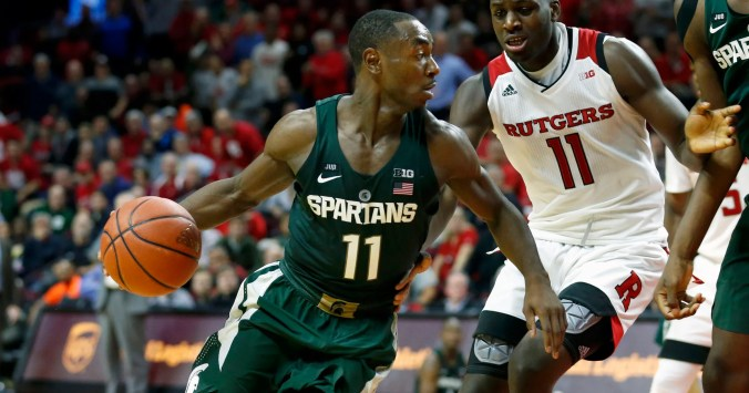 Image result for Michigan State Spartans vs. Rutgers Scarlet Knights college basketball