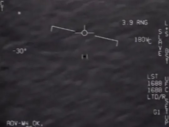 A still image from an apparent UFO sighting by U.S.