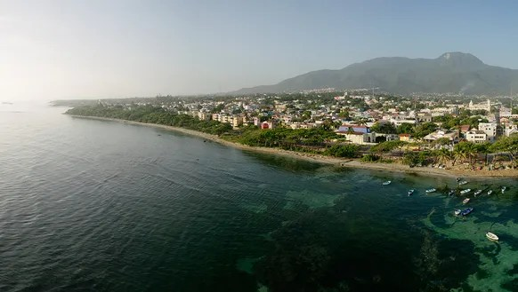 An aerial view of Puerto Plata in the Dominican Republic.