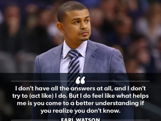 Suns coach Earl Watson said he's trying to take as