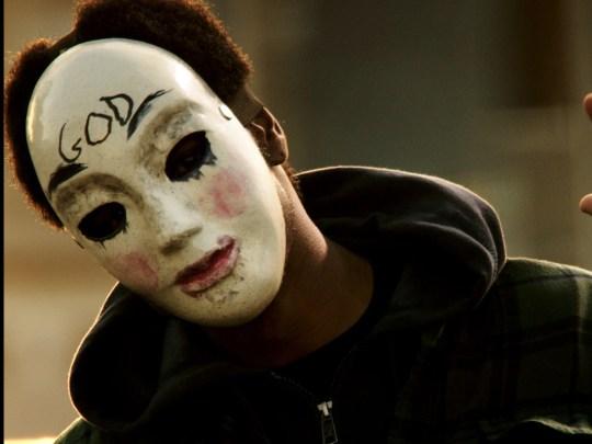 """Hier ist eine schöne Maske, die in """"The Purge"""" Folge """"The"""