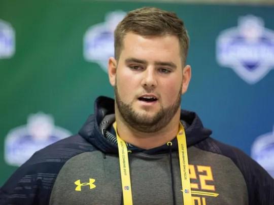 Vanderbilt offensive lineman Will Holden speaks to