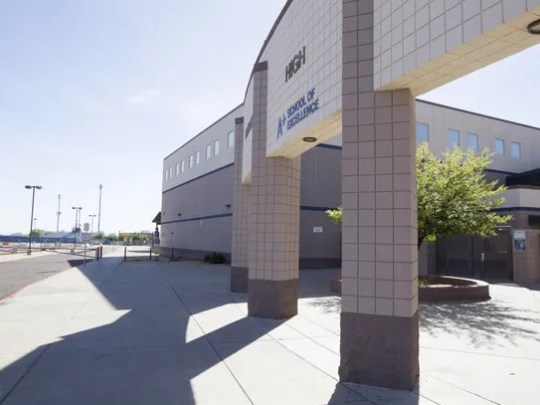 Facilities at Pinnacle High School in Phoenix are pictured
