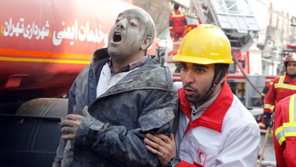 Building in Tehran collapses killing 30 firefighters