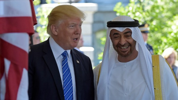 Trump meets with crown prince of Abu Dhabi as he looks to ...