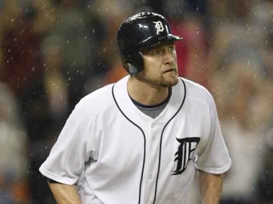 Detroit Tigers' Aubrey Huff in 2009.