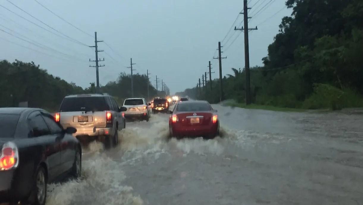 Heavy rains bring flooding to island