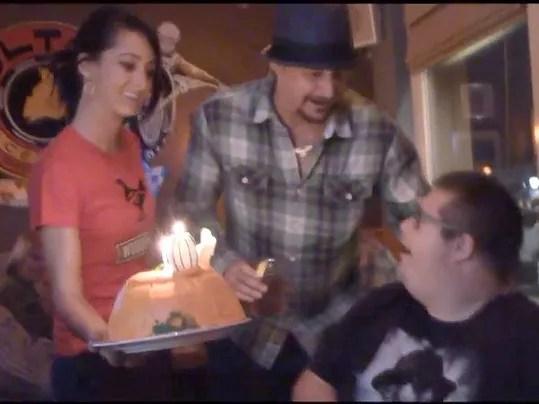 Watch Kid Rock Surprises Fan Makes Birthday Wish Come True