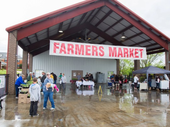 The rainy weather did not stop many community members