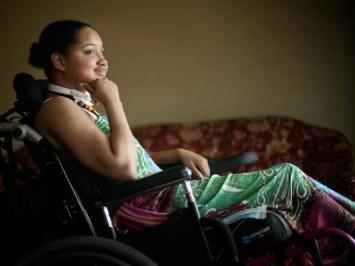 Dreia Davis, 19, of Detroit is photographed in her