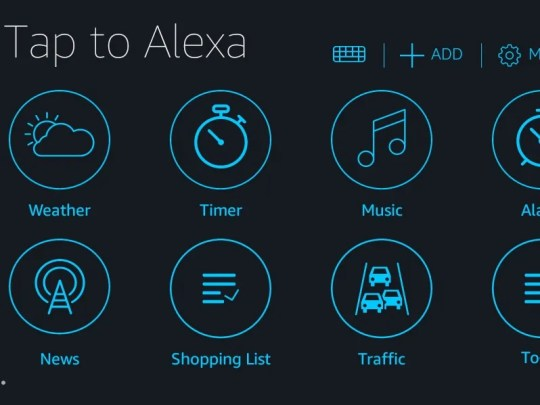 The Tap to Alexa feature on the Amazon Echo Show.