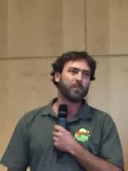 Schalk Prestorius, a South African field guide, spoke