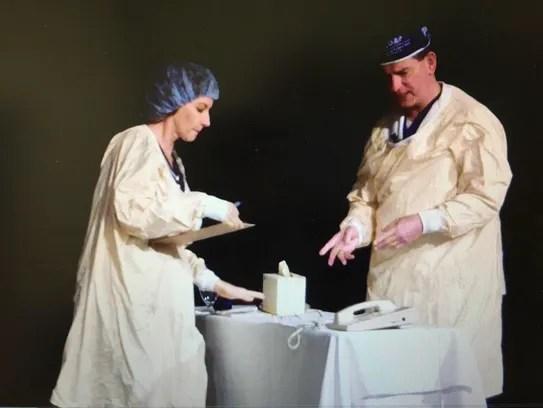 Dr. Joe Bujak and Kathleen Bartholomew, a nurse and