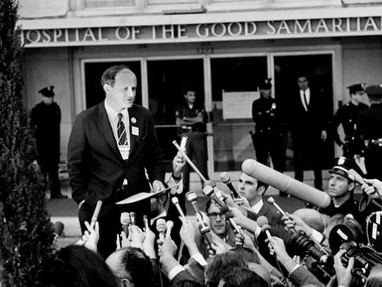 Frank Mankiewicz, press secretary for Robert Kennedy,