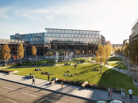 Conceptual plans for a West Allis mixed-use development