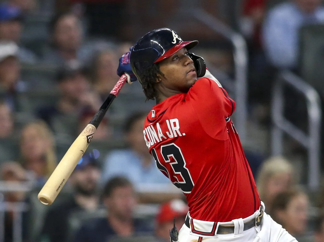 Ronald Acuna Jr. just missed out on joining the 40/40 club this season.