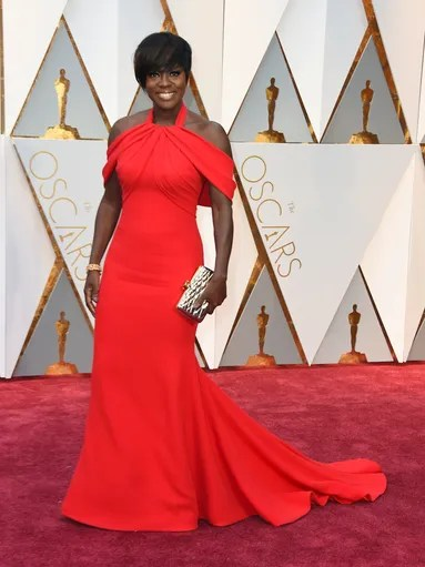 Viola Davis in a beautiful Armani Prive gown.