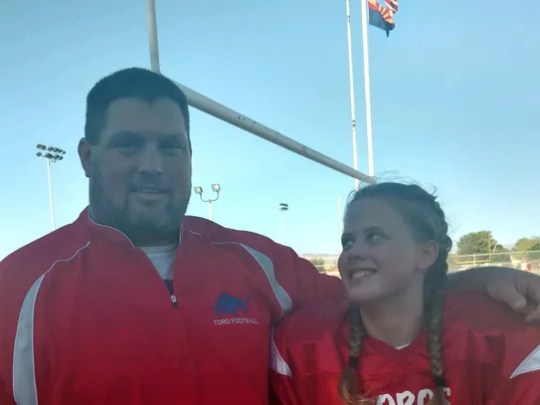 Mesa Mountain View freshman football coach Crys Hollen