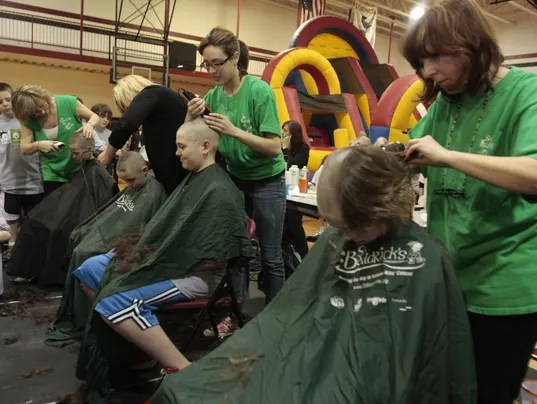 St. Baldrick's event today at Dominican College