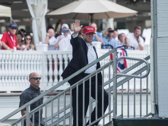 President Donald Trump attends the 72nd U.S. Women's
