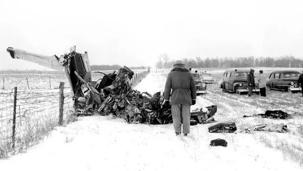 Image result for buddy holly plane crash