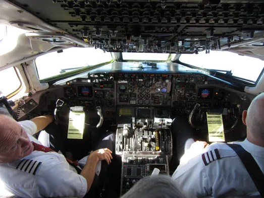 The view from the cockpit as American Airlines Flight