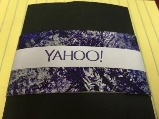 Yahoo chocolates from the company's holiday party.