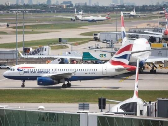 British Airways aircraft on the tarmac at Heathrow