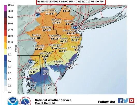 Funny Snow Weather Map Nj