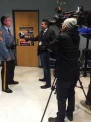 New Jersey State Police Sgt. Sean Boag is interviewed