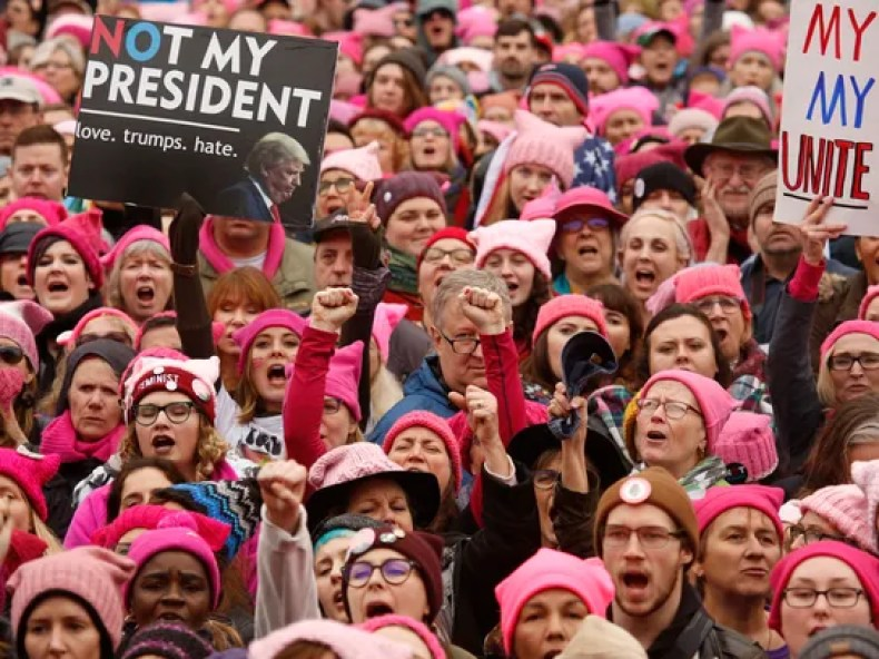 Thousands gather for the Women's March on Washington,