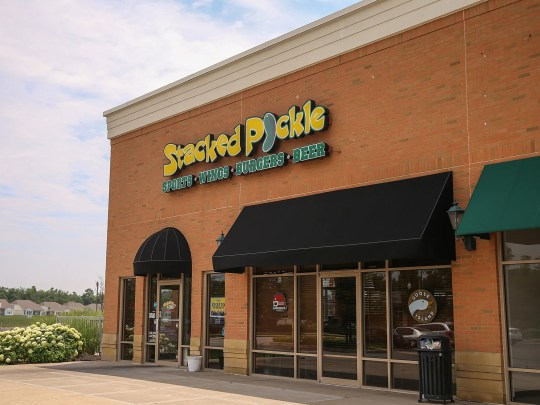 The Stacked Pickle on 96th Street in Carmel, Ind.,