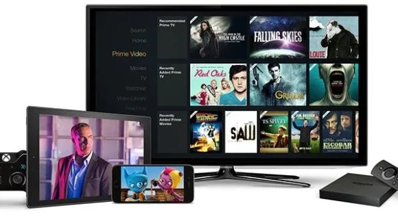 Amazon Prime Video displayed on multiple devices.