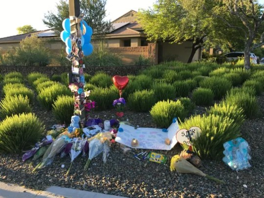 A street-side memorial was created for Alexa Flores,