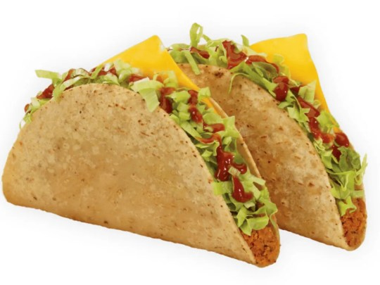 Two Tacos from Jack in the Box