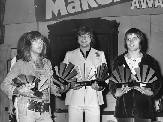 Emerson, Lake & Palmer in September 1972. Keith Emerson