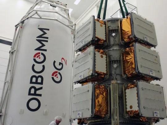 Orbcomm OG2 satellites before their encapsulation in