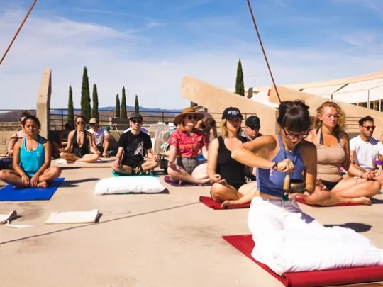 FORM Arcosanti features morning meditation and yoga