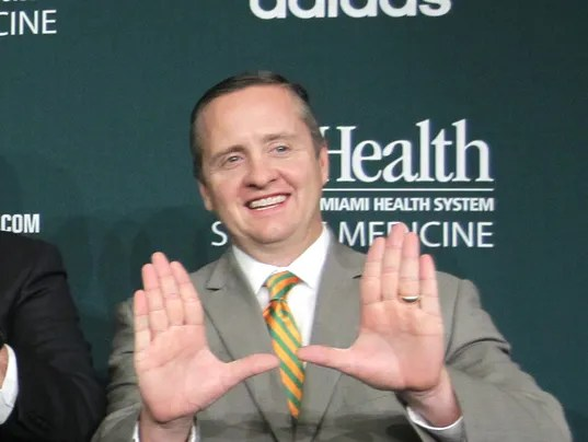 Miami AD said the school has talked to NCAA about scandal