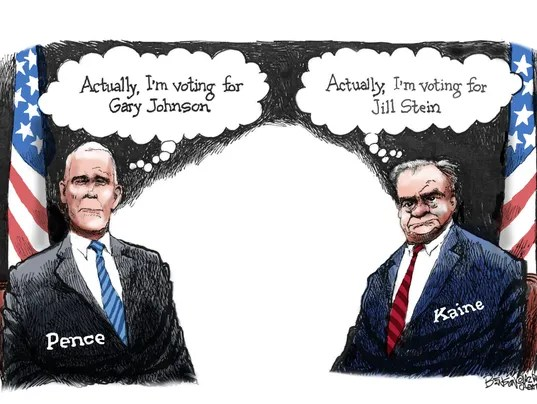 Image result for cartoon kaine pence