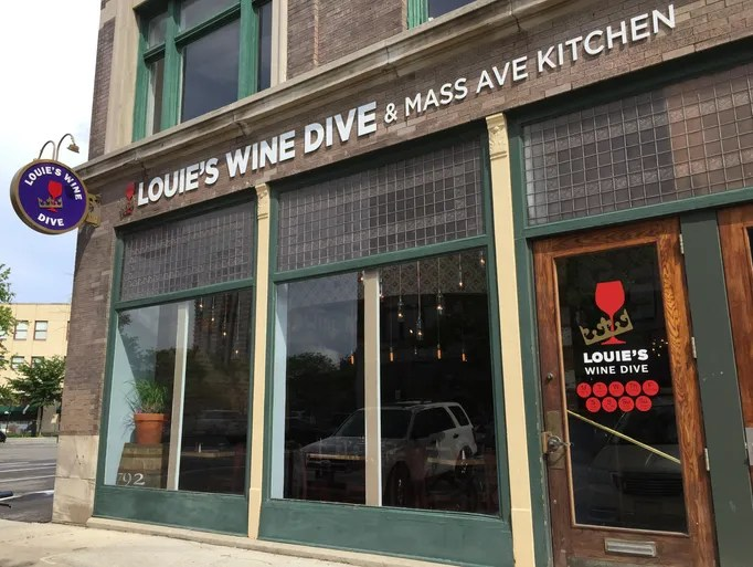 Louie's Wine Dive opened May 27, 2015, at 345 Mass